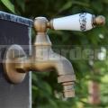Mosadzná záhradná vodovodná batéria Ľalia.