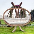 Záhradná hojdačka Kacper so stojanom krémová