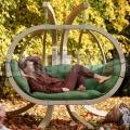 Záhradná hojdačka Kacper so stojanom zelená
