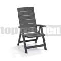 Záhradná stolička Brasilia Antracit 221204