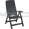 Záhradná stolička Montreal grafit 213718