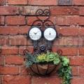 Záhradné hodiny s teplomerom a kvetináčom GCBC
