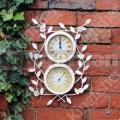 Záhradné hodiny s teplomerom GCFL