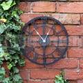 Záhradné nástenné hodiny čierne GCSB