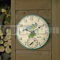 Záhradné nástenné hodiny Sýkorka