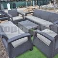 Záhradný nábytok Corfu BT pre 8 osôb