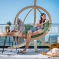 Závesné kreslo Zosia so stojanom zelená